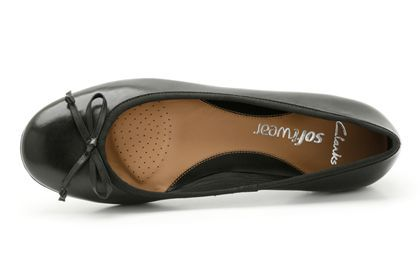 Womens Smart Shoes - Arizona Heat in Black Leather from Clarks shoes