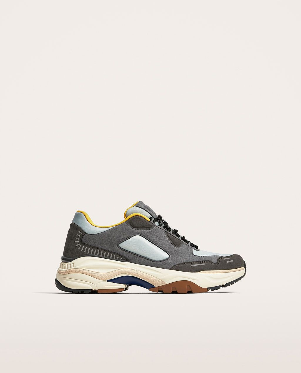 CONTRASTING SNEAKERS WITH THICK SOLES - Sneakers