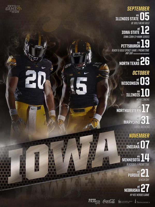 2015 Ncaa College Football Schedule Poster Photo Gallery Iowa Football Ncaa College Football College Football Schedule