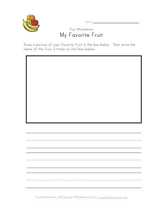 Favorite Fruit Worksheet Centers For Early Literacy Learning