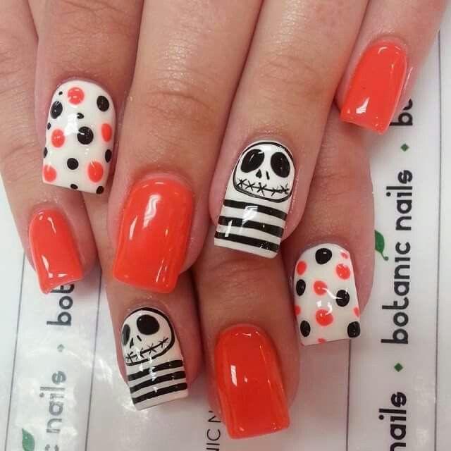 Famous Jack Skellington Nails Ensign - Nail Paint Design Ideas ...