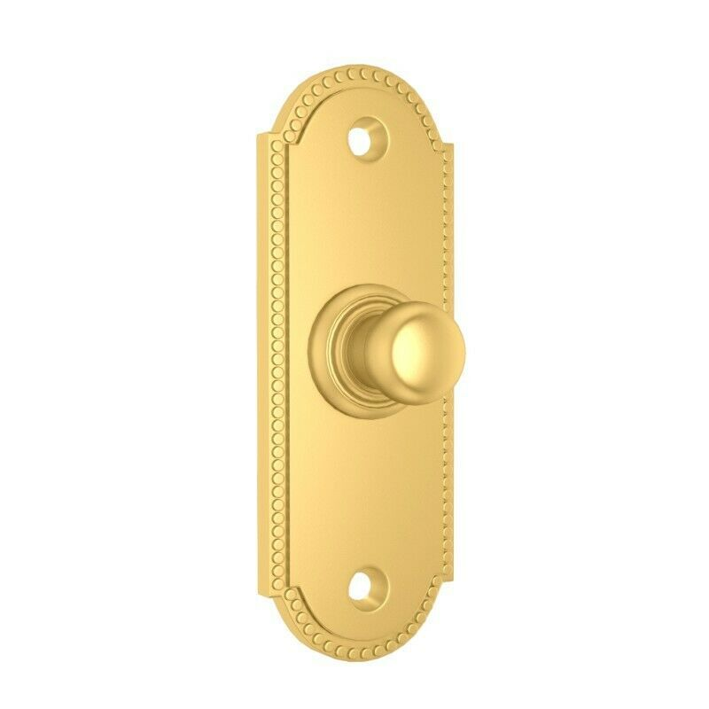 Front Door Bell Push Beaded /& Shaped 76mm x 37mm Polished Brass