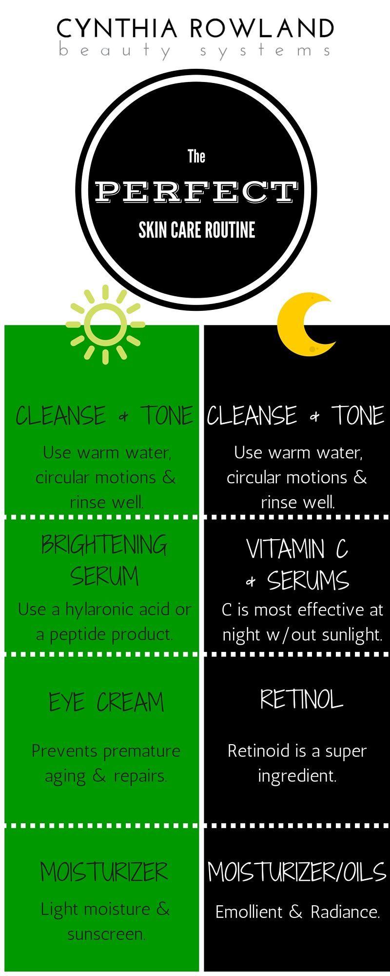 The Perfect Skin Care Routine Day Night By Cynthia Rowland Easy Beauty Consejos Para La Piel Cuidado Natural De La Piel Rutina De Cuidado De La Piel