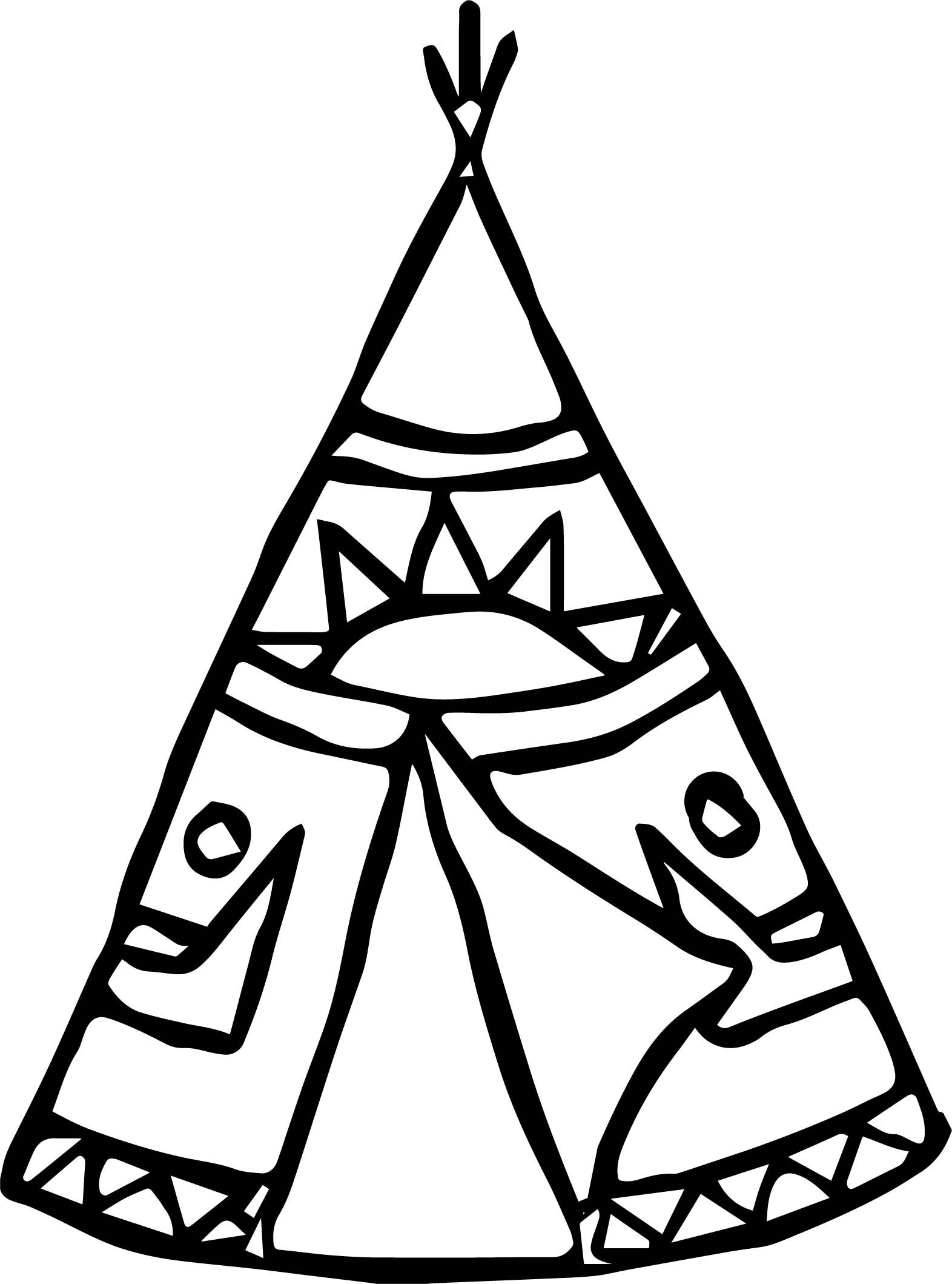 Nice American Indian Tent Coloring Page