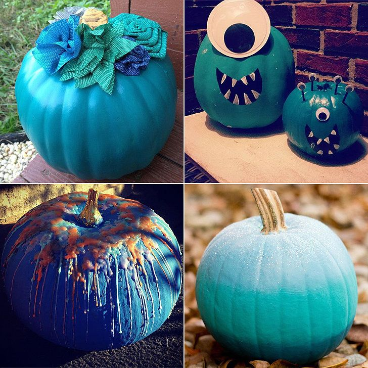 Ways To Paint A Pumpkin: 38 Insanely Creative Ways To Decorate Your Teal Pumpkin