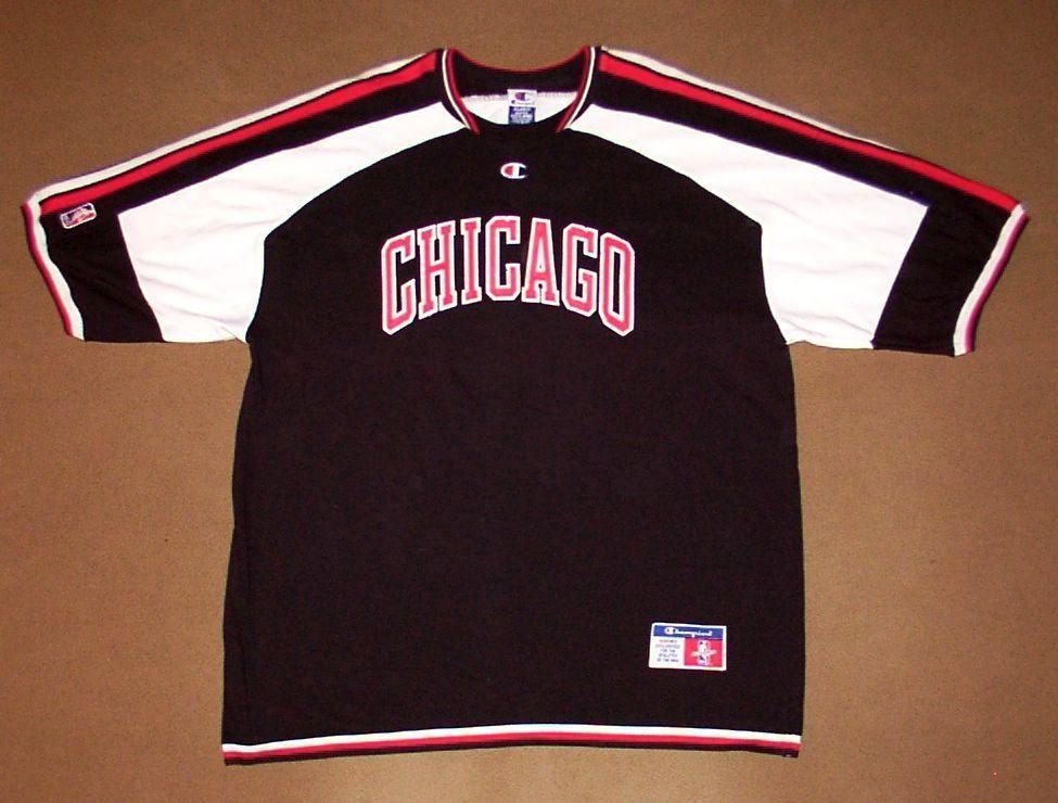 Vintage Chicago Bulls Champion NBA Shooting Shirt XXL TPOyc6