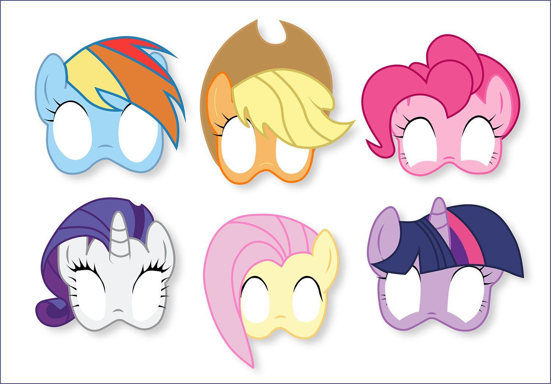 Male My Little Pony Masks 3  Pony Paper Mask