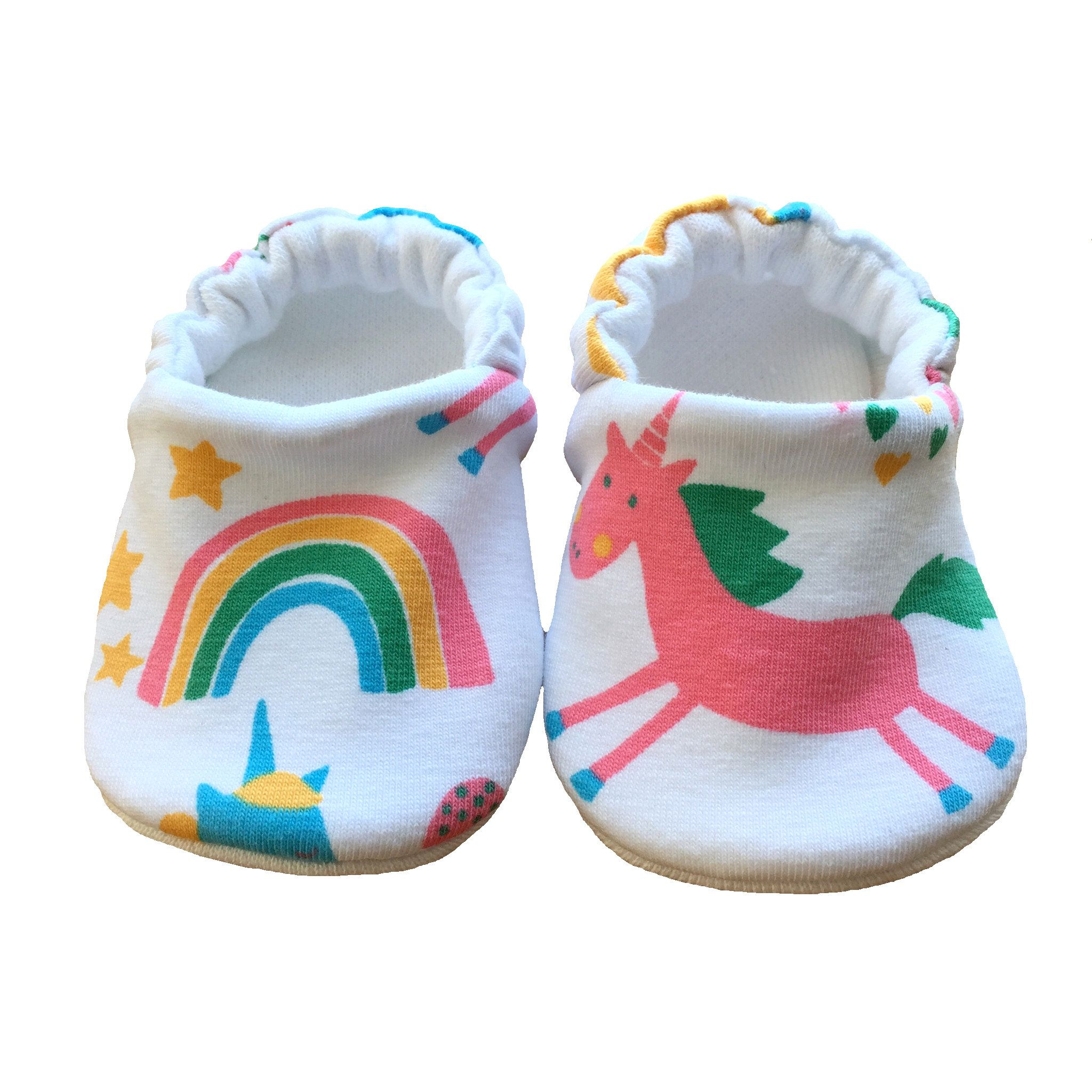 Unicorn Shoes Rainbow Baby Moccasins Baby Slippers Newborn Shoes Crib Shoes Soft Sole Shoes Pram Shoes Slipon Shoes Baby Moccasins Newborn Shoes Baby Slippers