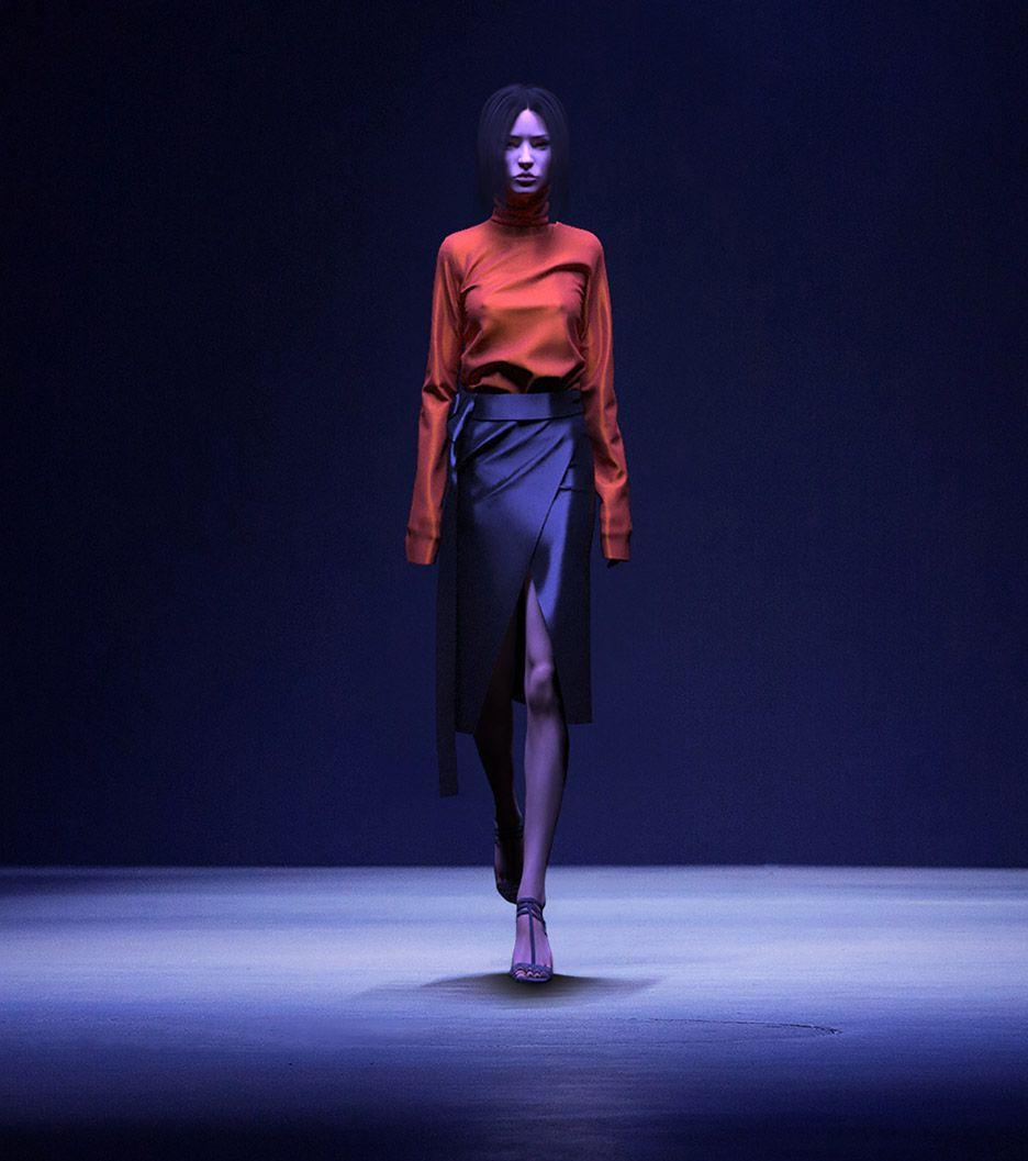 Dezeen French Designer Clement Balavoine Has Created A 3d Digital Pattern Cloth Sim Fashion Textiles Fashion Tech Fashion