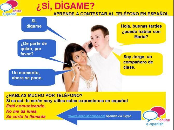 Vocabulario y expresiones para hablar por teléfono