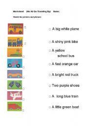 english worksheet we all go traveling by transport worksheets travel transportation. Black Bedroom Furniture Sets. Home Design Ideas