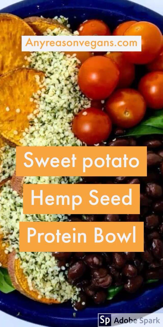 Black Bean Sweet Potato Protein Bowl - Any reason vegans -   15 diet Protein bowls ideas