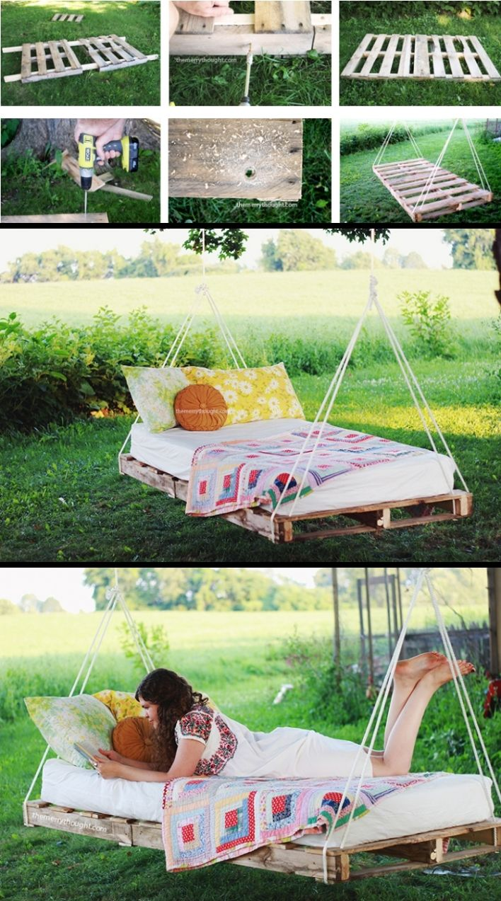 44 Relaxing Pallet Bed Swing Ideas For Backyard Pallet Swing Beds Outdoor Pallet Projects Backyard Diy Projects
