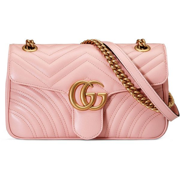 eda00df94 Gucci Gg Marmont Matelassé Shoulder Bag ($1,490) ❤ liked on Polyvore  featuring bags,