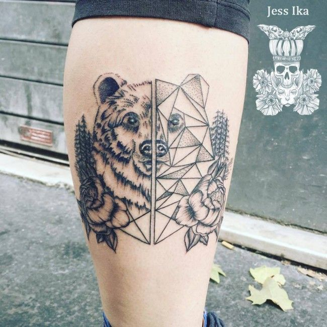 Tatouage Ours Tattoos Piercings Pinterest Tattoos Bear