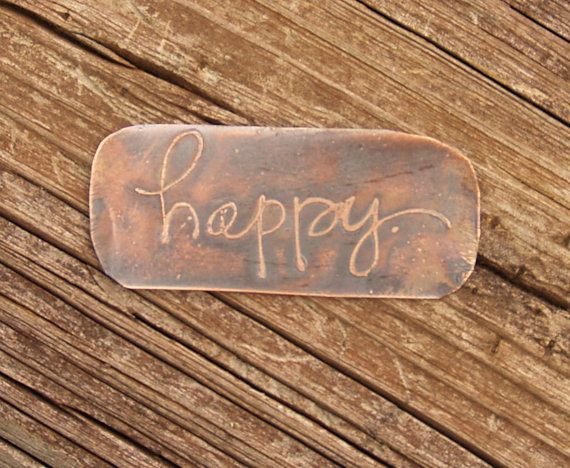 ClayDesignsbyglee   Etched Copper Patina Jewelry