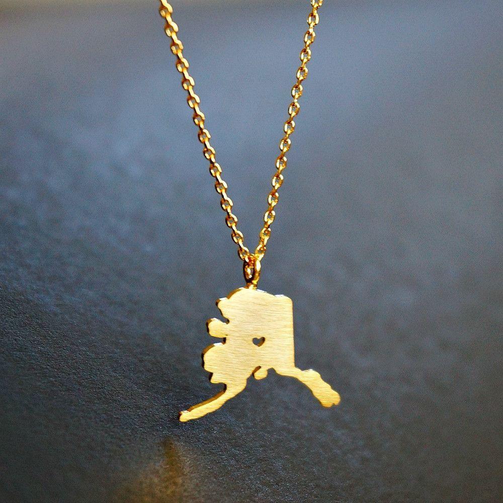 Alaskau gold necklace alaska