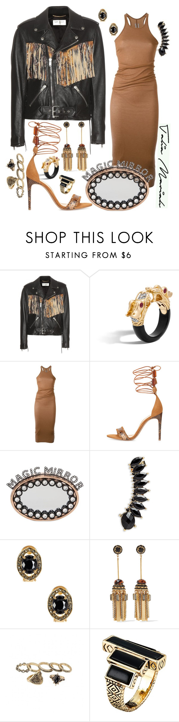 """""""Magic Mirror"""" by taliamariah-cirillo ❤ liked on Polyvore featuring Yves Saint Laurent, Rick Owens, Alexandre Birman, Benedetta Bruzziches, Jules Smith, Savvy Cie, Elizabeth Cole, House of Harlow 1960, chic and fashionista"""