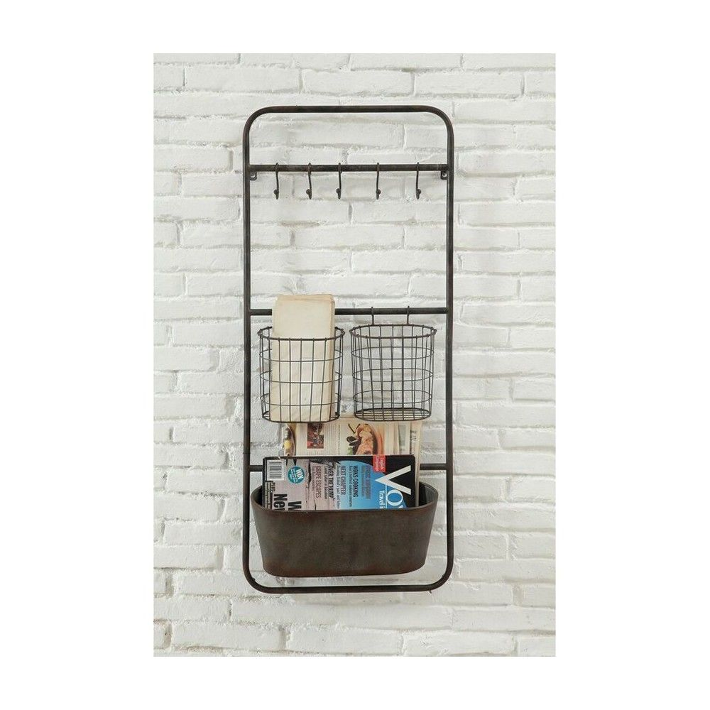 Metal Shelves with Hooks and Baskets - 3R Studios, Red | Products ...