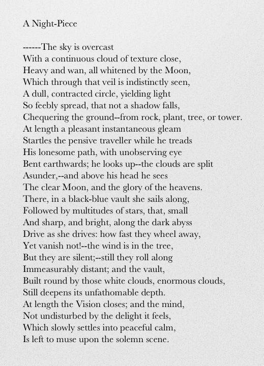 William Wordsworth Displays The View Of Many Romantics