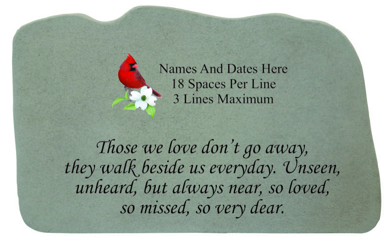 Personalized Memorial Stone With Cardinal Those We Love