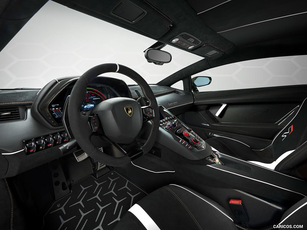 2019 Lamborghini Aventador Svj Wallpaper Lamborghini Aventador Super Cars Lamborghini Interior