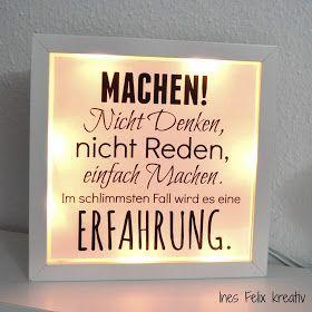 Beleuchteter IKEA-Rahmen mit Sprüchen                            Seit es abends wieder früher dunkel wird, denke ich über eine Beleuc... #ikeaideen