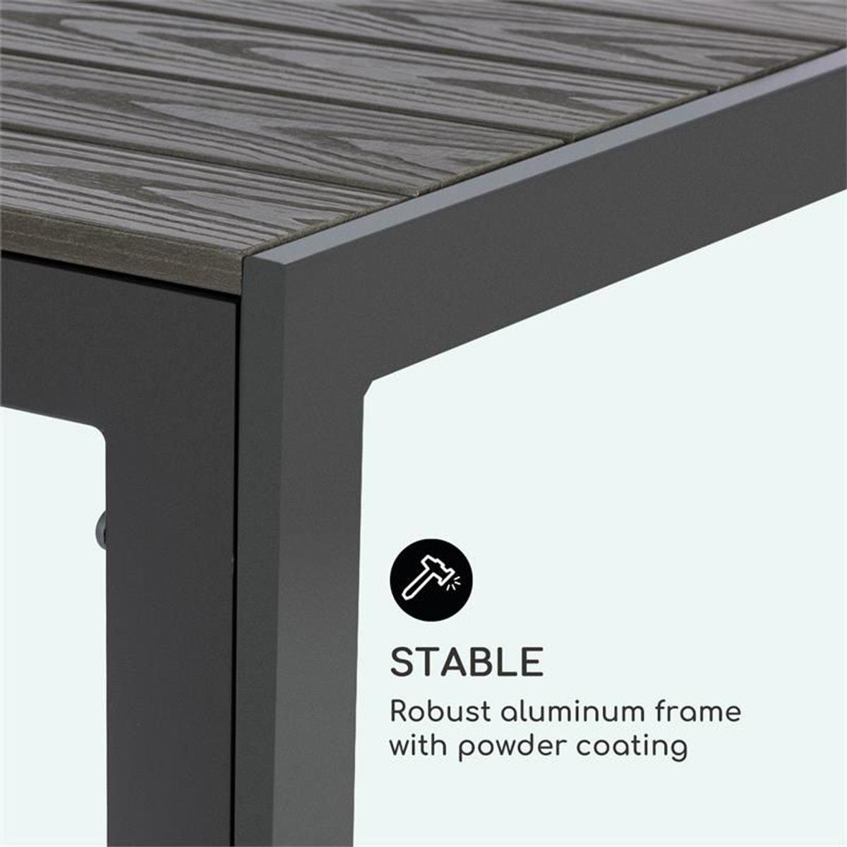 Bilbao Table De Jardin 150 X 90 Cm Polywood - Aluminium ...