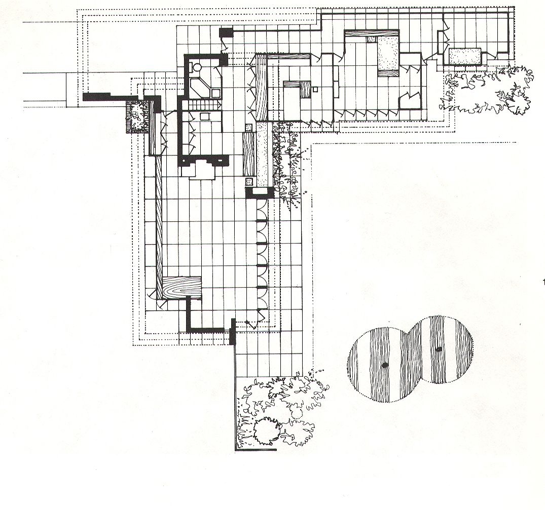 Architect frank lloyd wright built his first usonian Frank lloyd wright floor plan