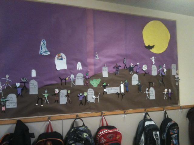 Dead Poets Society - Halloween Bulletin Board Idea #halloweenbulletinboards