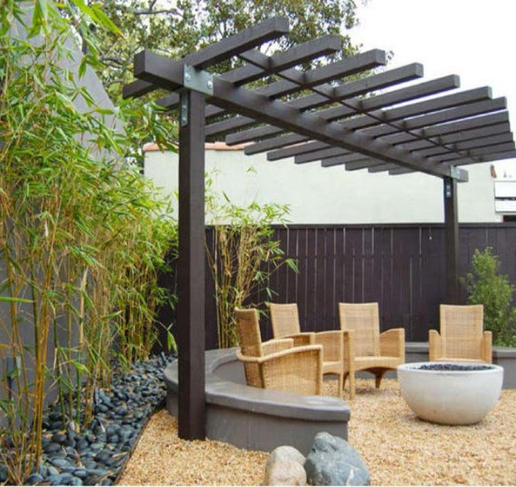 images of small backyard designs with pergola