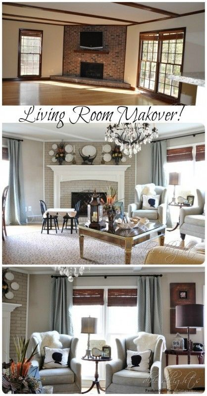 Newly painted and decorated den before after livingroomremodelbeforeandafter living room remodel home also best makeover images in rh pinterest