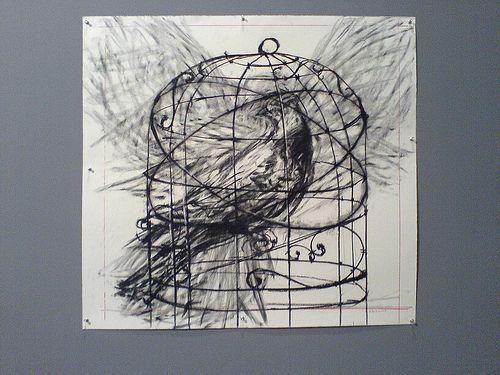 South African Artist William Kentridge S Bird In A Cage
