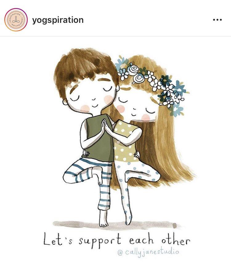 Pin by subakeerthana sai on Watercolour Yoga cartoon