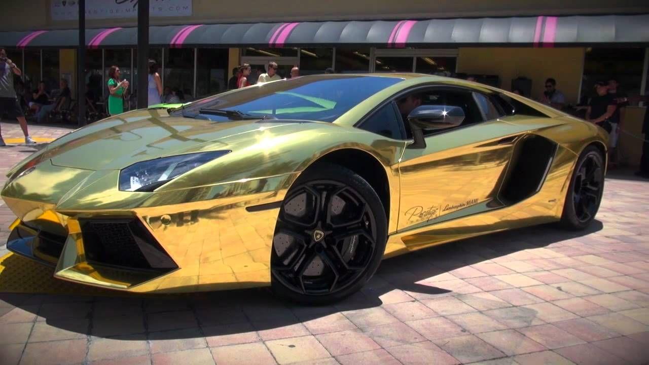 Worlds First Gold Plated Lamborghini Aventador Lp700 4 Unveiled Lamborghini Aventador Lamborghini Gold Lamborghini