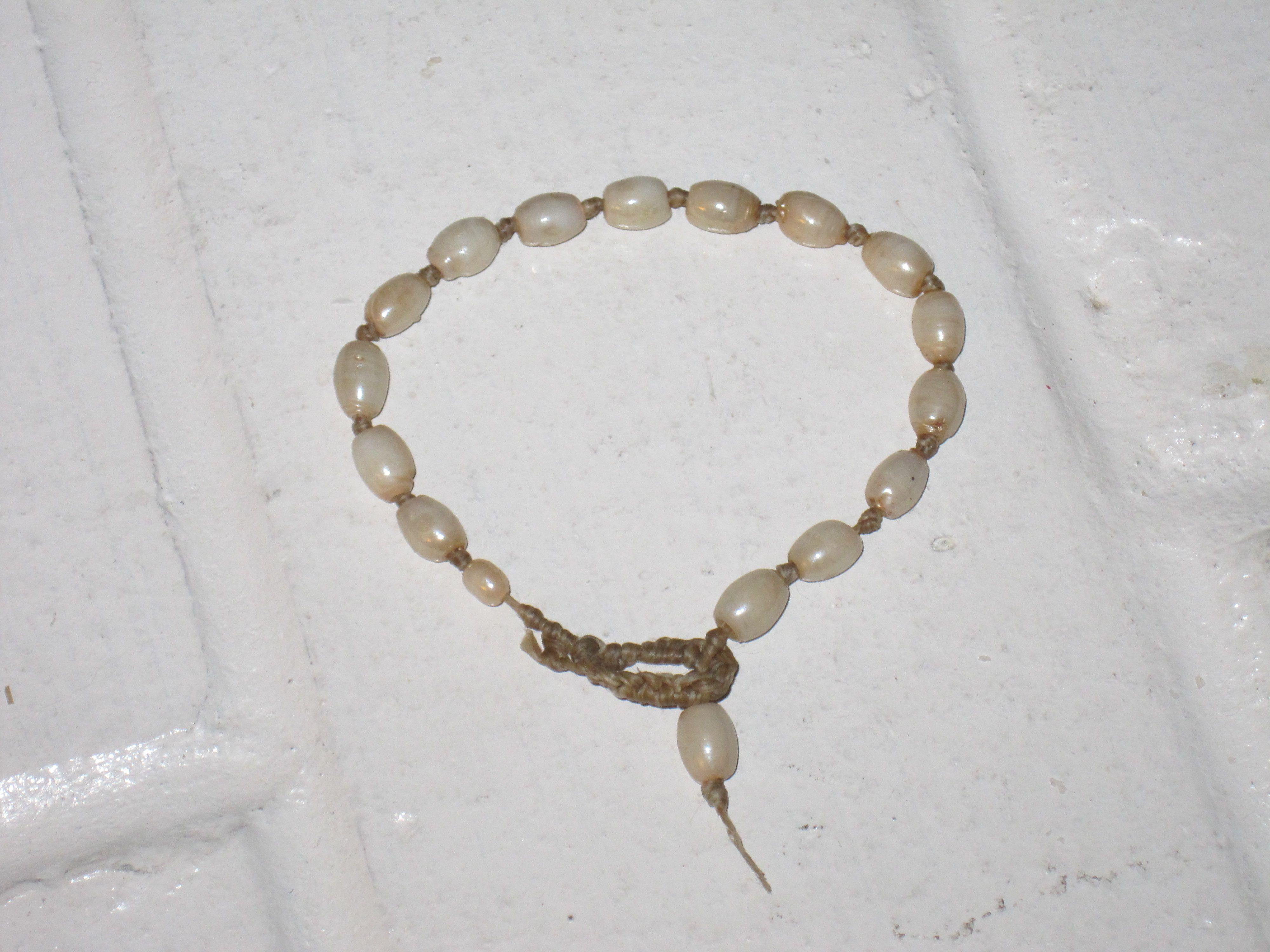 Pearl & Rawhide bracelet
