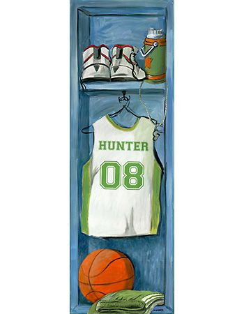 Basketball Locker - Wall Art by Oopsy Daisy.