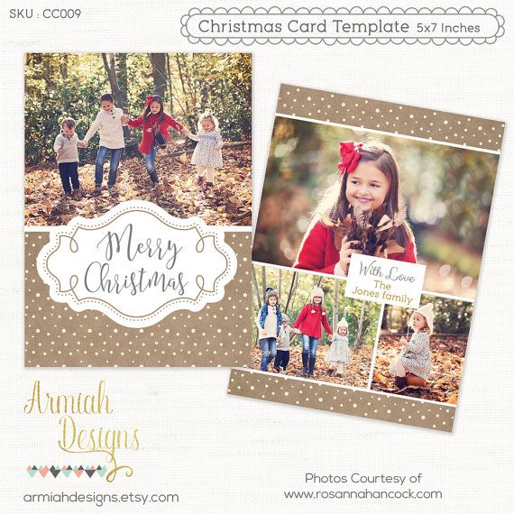 Digital Photoshop Christmas Card Template For Photographers Etsy Christmas Card Template Photoshop Christmas Card Template Holiday Card Template