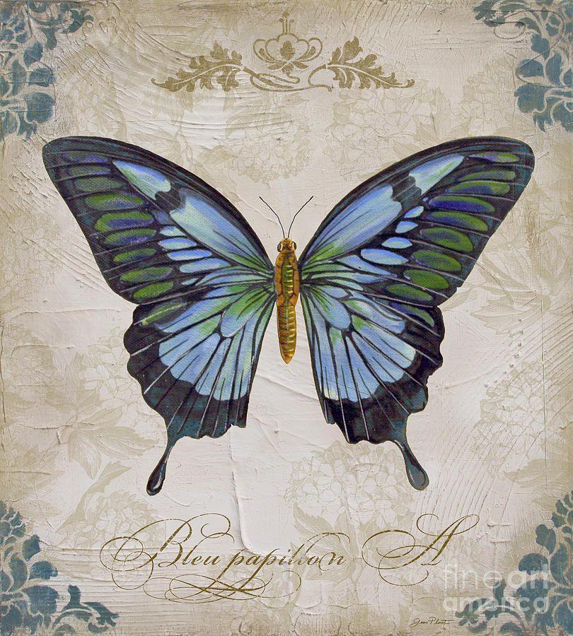 Bleu Papillon-a Painting