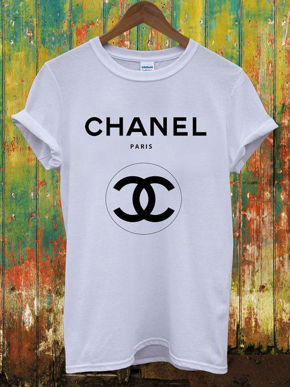 277266966a6 Chanel Double Logo Dope Swag Geek Yves Saint Laurent Louis Vuitton Versace  Celine Paris Hippie Comme Fuckdown Men Women Unisex Top T-Shirt on Etsy