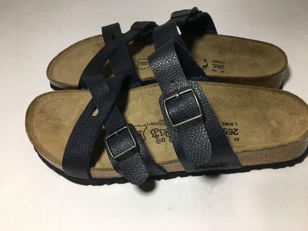 low priced ed92a 88e8e BIRKENSTOCK Arizona Stone Leather Slides Sandals 265 Size 41 ...
