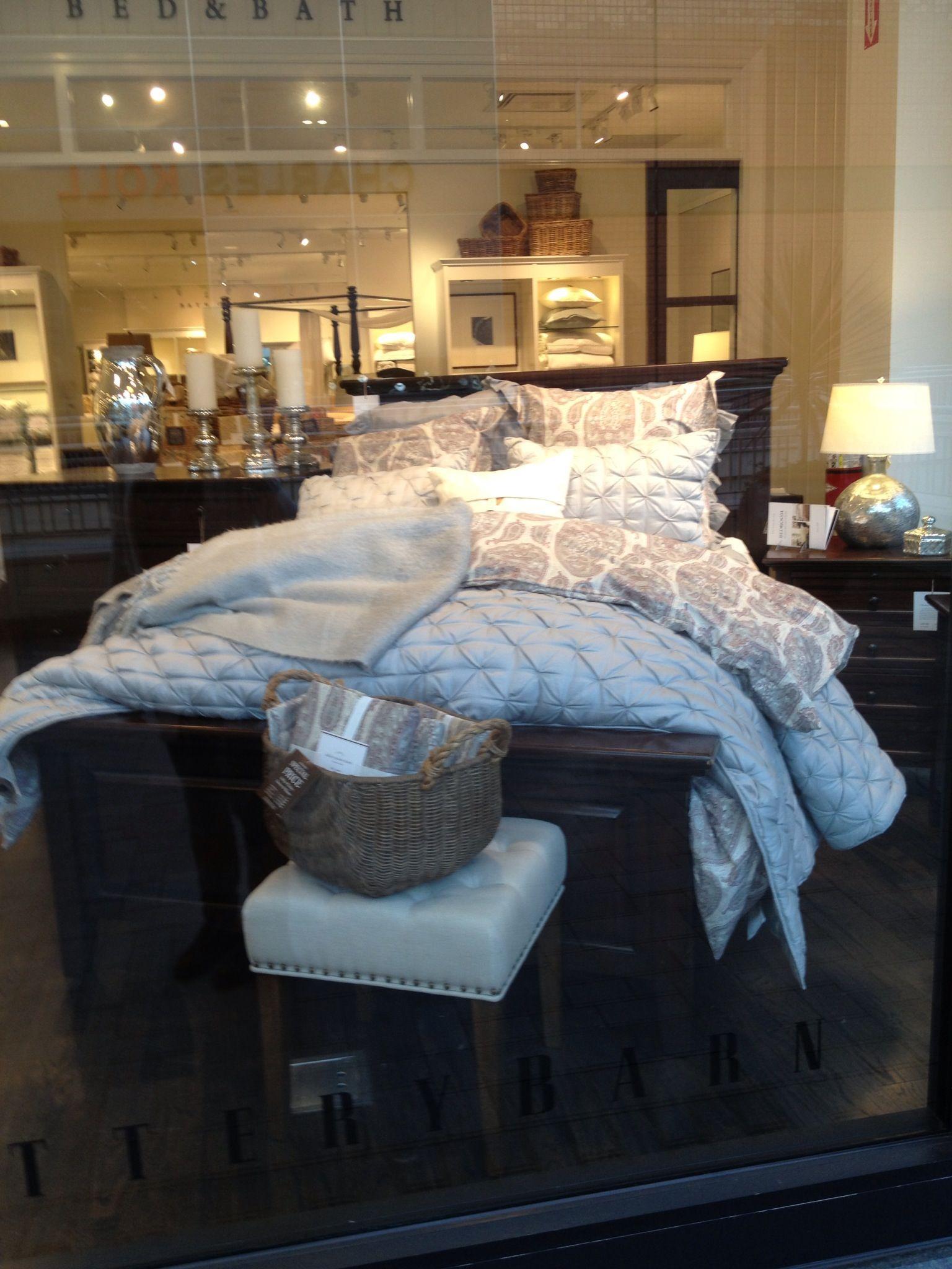 Pottery Barn Bed Bedroom Gray LOOOOove :0)