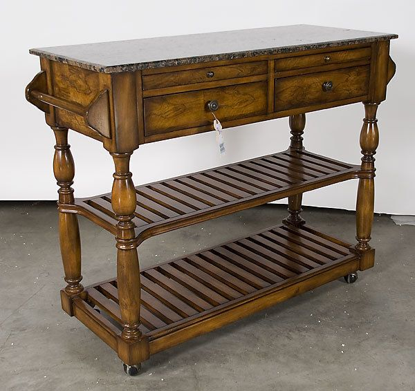 Add a center shelf to the piece I want to use for a kitchen island (with carrera marble atop).
