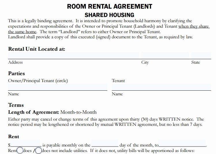 40 Room Rental Agreement Pdf In 2020 Room Rental Agreement