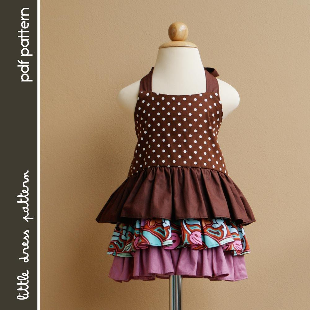 Brandy Dress - PDF Pattern - Size 12 months to 8 years old