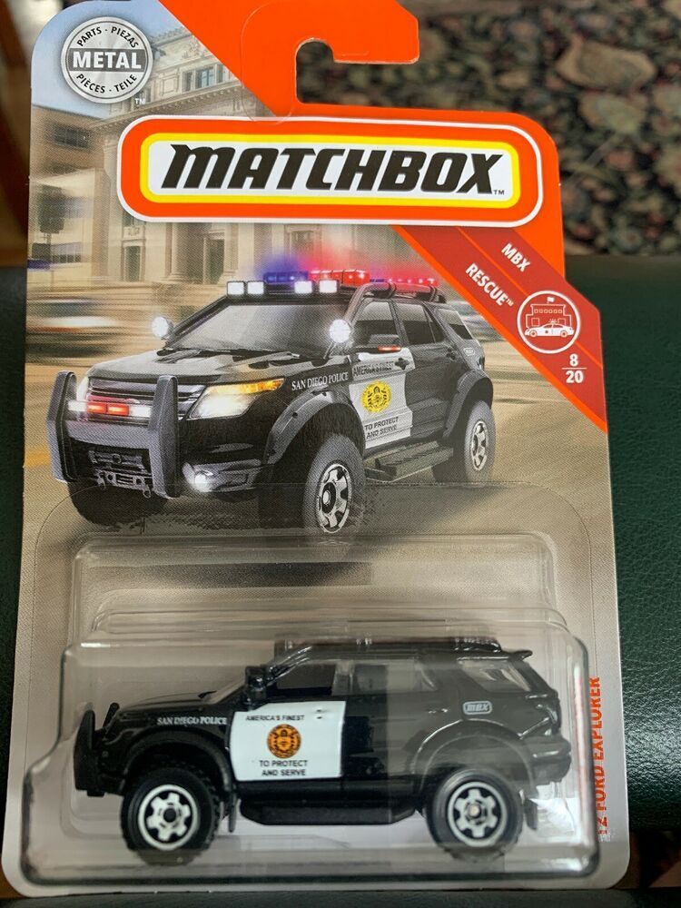 2019 Matchbox 58 2012 Ford Explorer Black SUV MBX Rescue