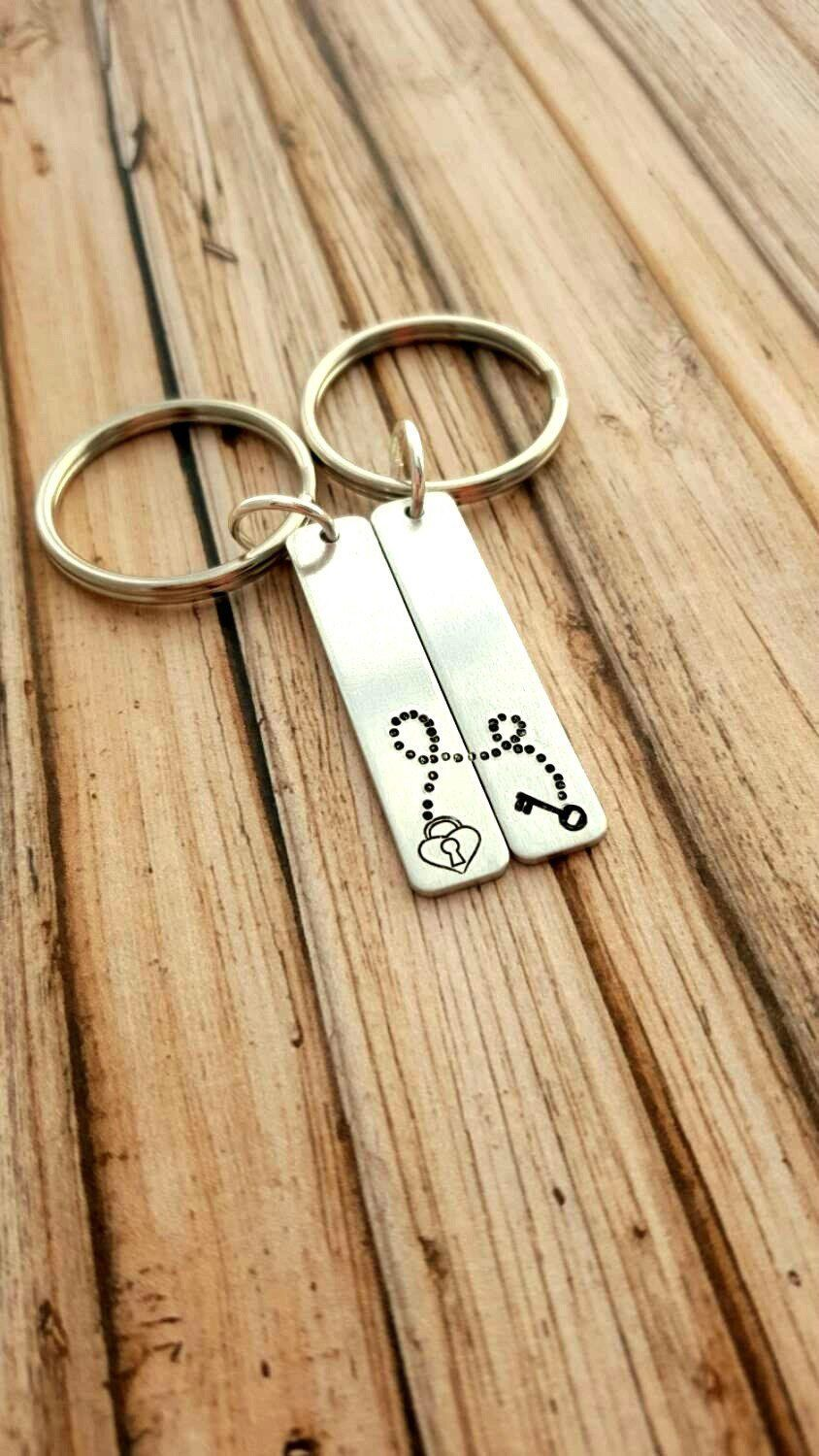 Personalized Couple Anniversary Keychain, Boyfriend gift