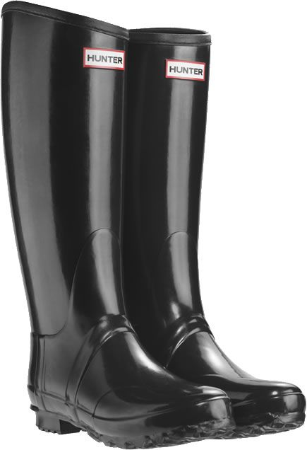 Black wellies.   Boots, Hunter boots