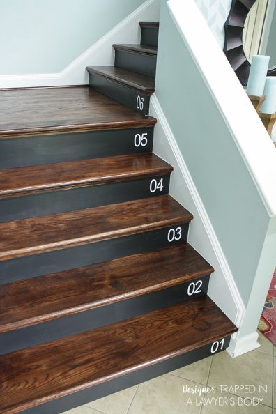 Nice DIY Staircase Renovation {completed In 1 Weekend}!