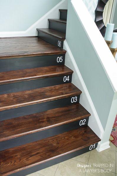 Nice DIY Staircase Renovation {completed In 1 Weekend}!